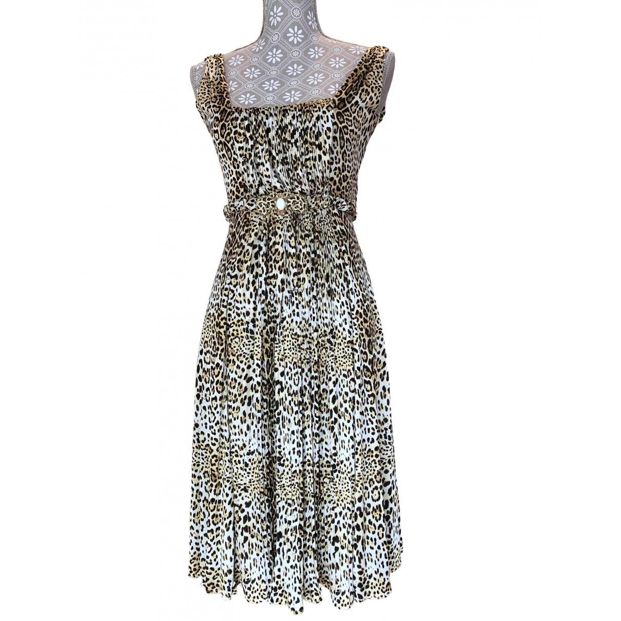 Class Cavalli \N Kleid in  Gold Viskose