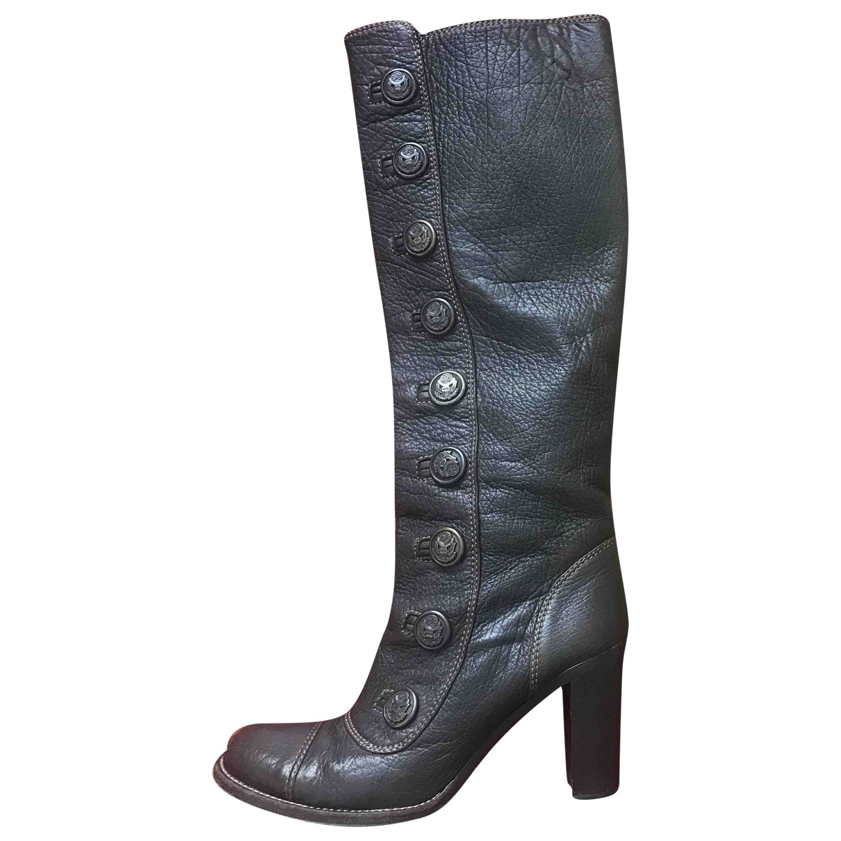 Dolce & Gabbana \N Brown Leather Boots for Women 37.5 IT