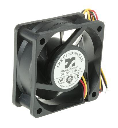ARX , 24 V dc, DC Axial Fan, 60 x 60 x 25mm, 33.35m³/h, 4.32W