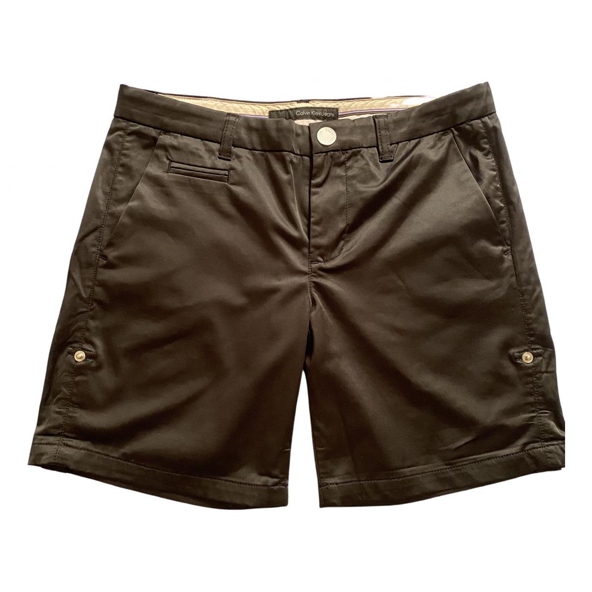 Calvin Klein \N Black Cotton Shorts for Women M International