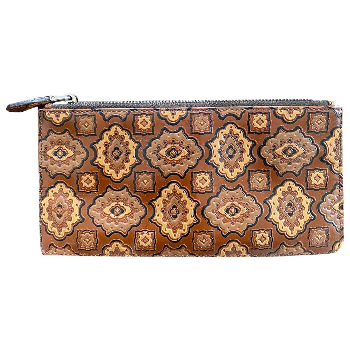 Prada \N Brown Leather Purses, wallet & cases for Women \N