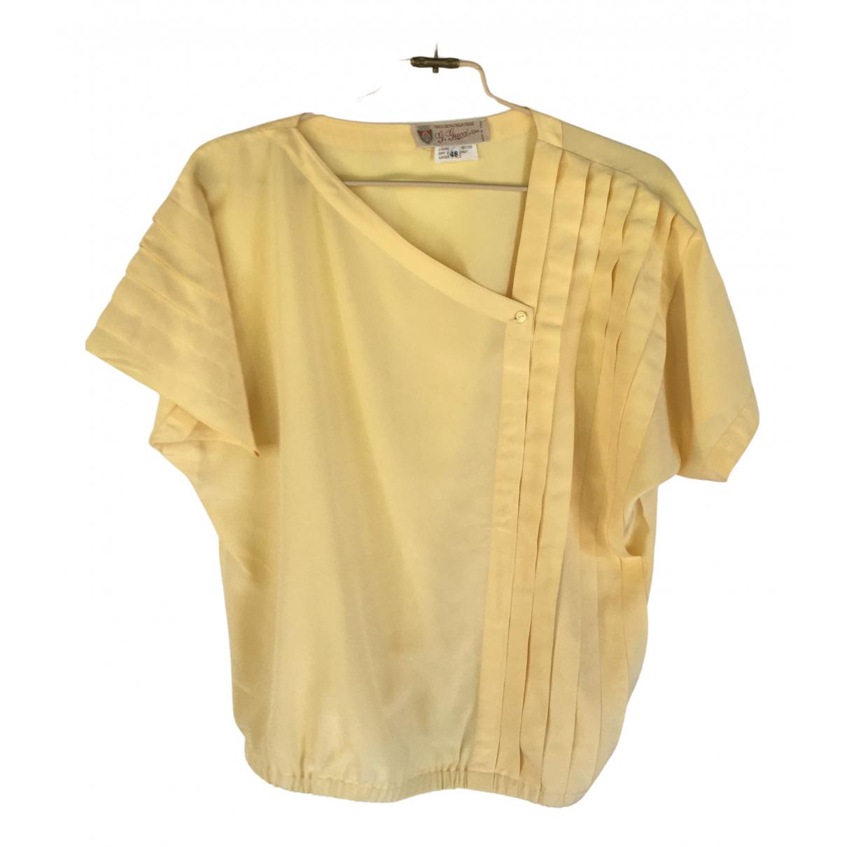 Gucci \N Top in  Gelb Seide