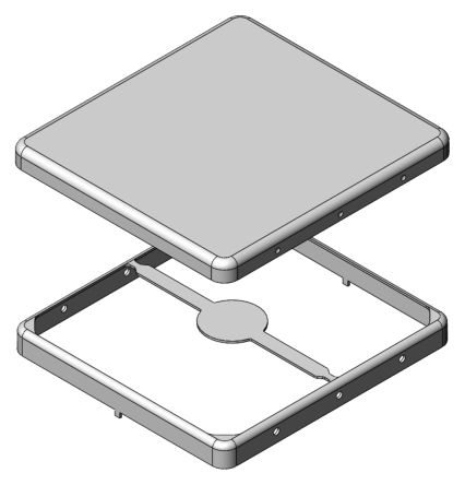 Masach Tech MS Tin Plated Steel PCB Enclosure, 36.6 x 34.1 x 3.6mm