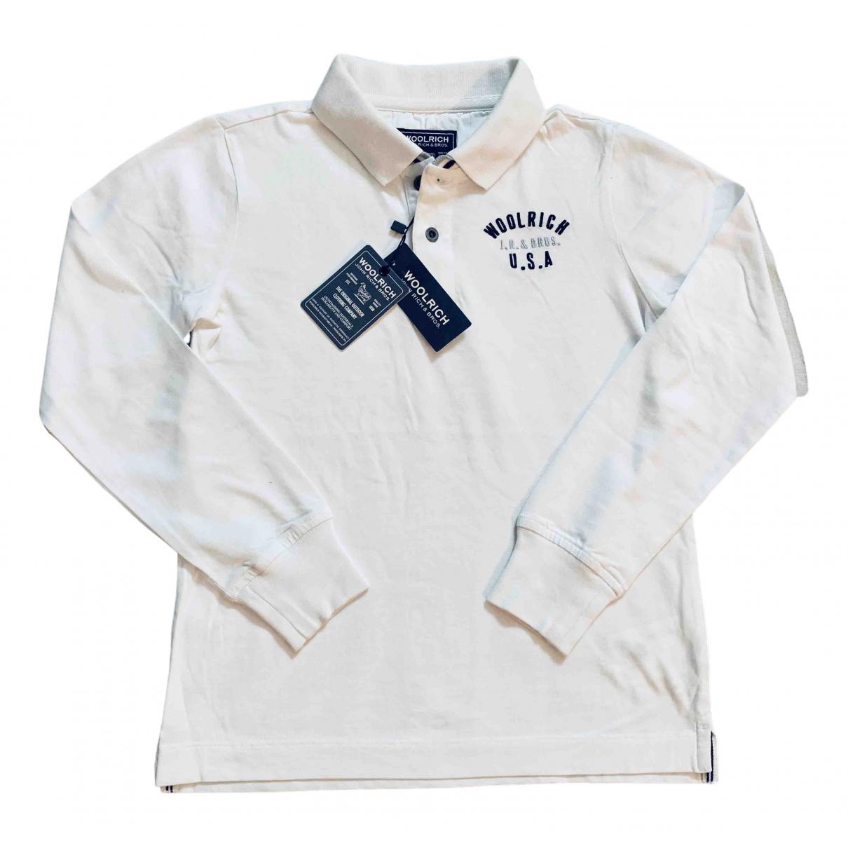 Woolrich - Top   pour enfant en coton - blanc