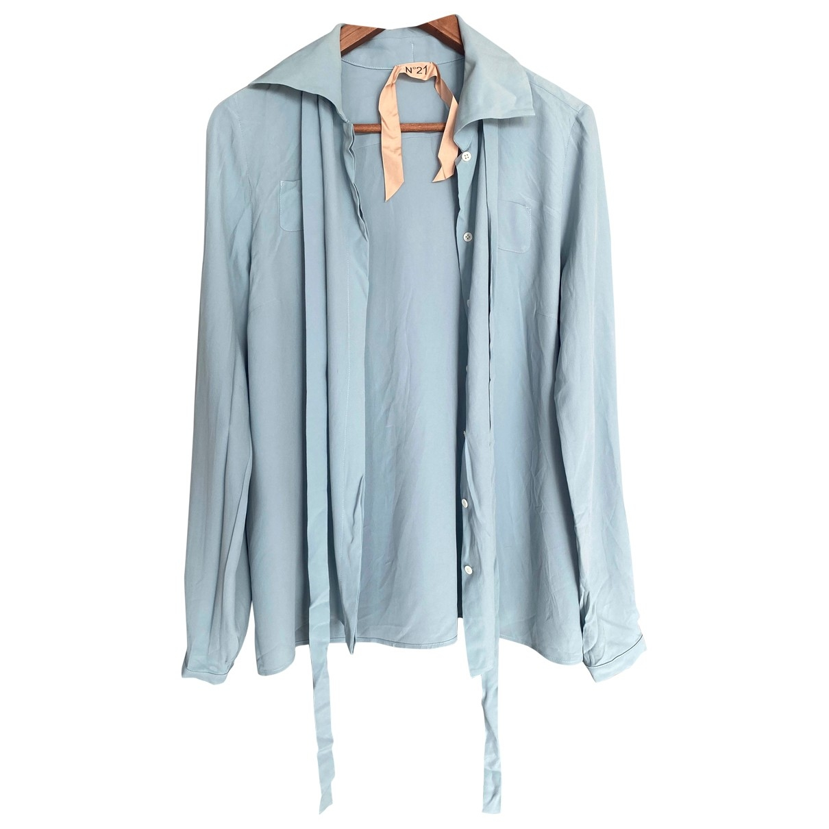 Gilmar \N Blue Silk  top for Women 44 IT