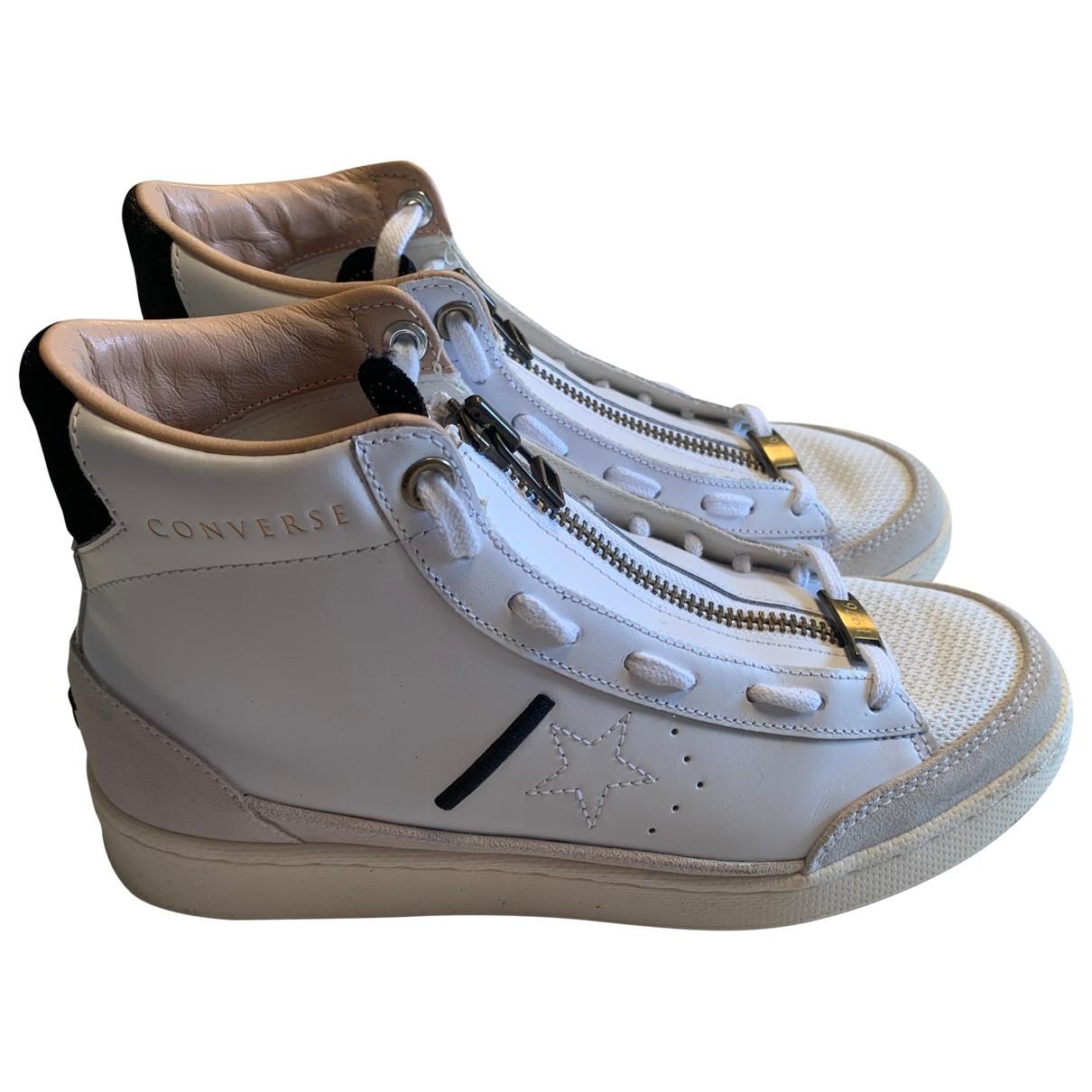 Converse - Baskets   pour homme en cuir - blanc