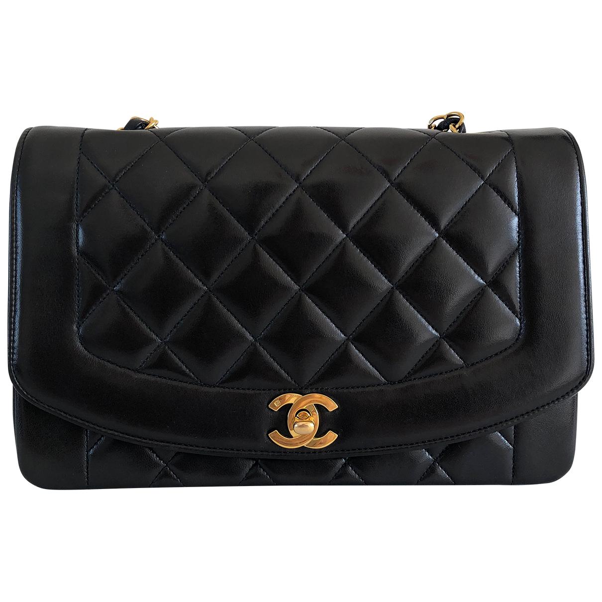 Chanel Diana Black Leather handbag for Women \N