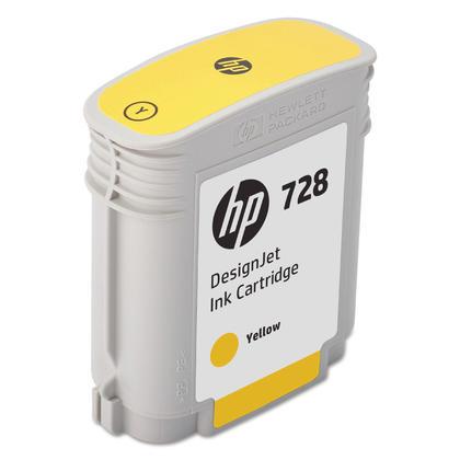 HP 728 F9J61A 40ml Original Yellow Ink Cartridge