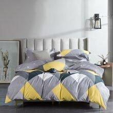 Set de cama de color combinado sin relleno