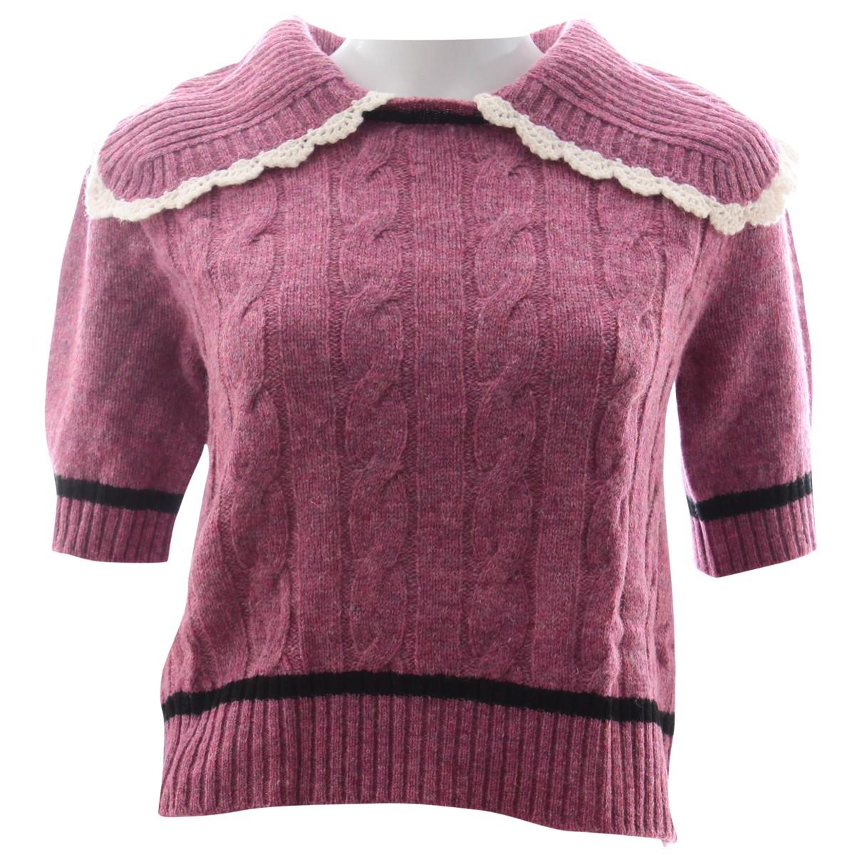 Miu Miu - Top   pour femme en laine - rose