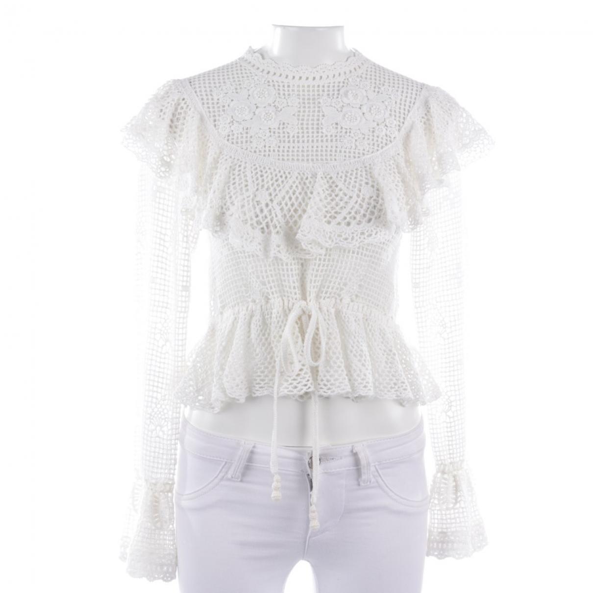 Zimmermann \N White Cotton  top for Women XS International