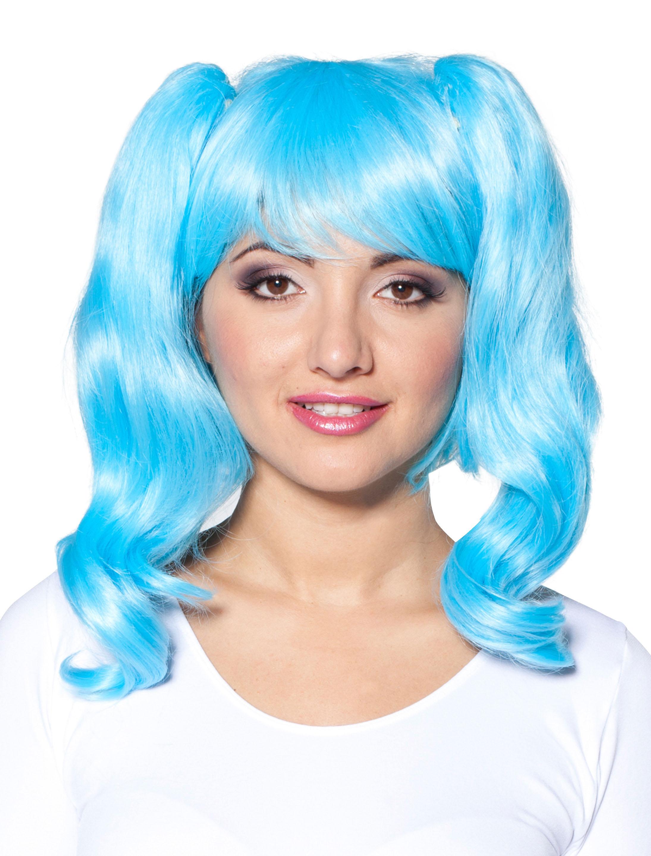 Kostuemzubehor Peruecke Penelope blau