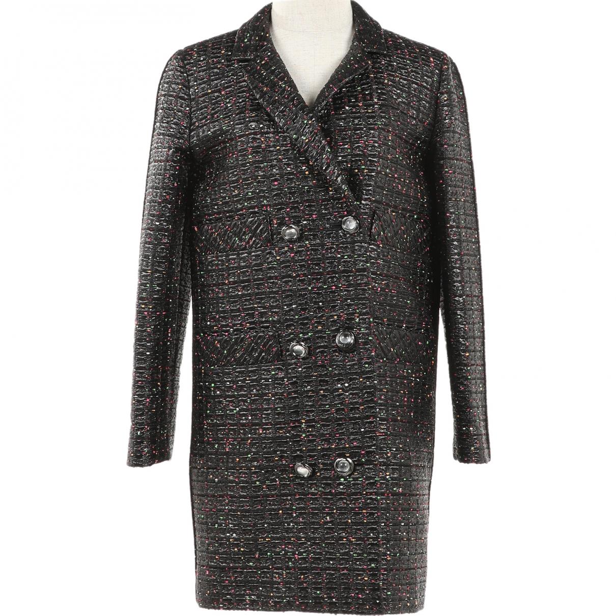 Chanel - Manteau   pour femme en coton - noir
