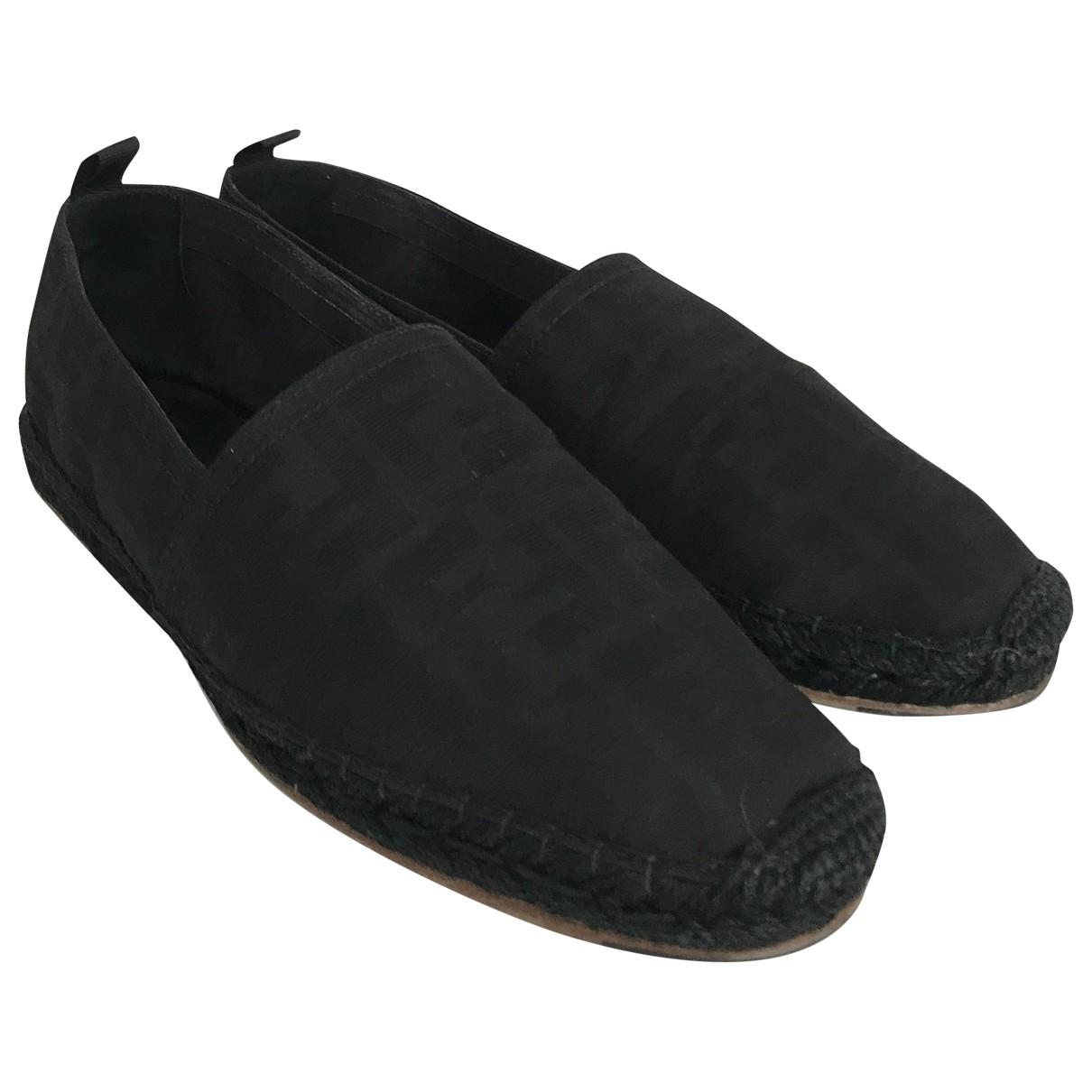 Fendi - Espadrilles   pour homme en toile - noir