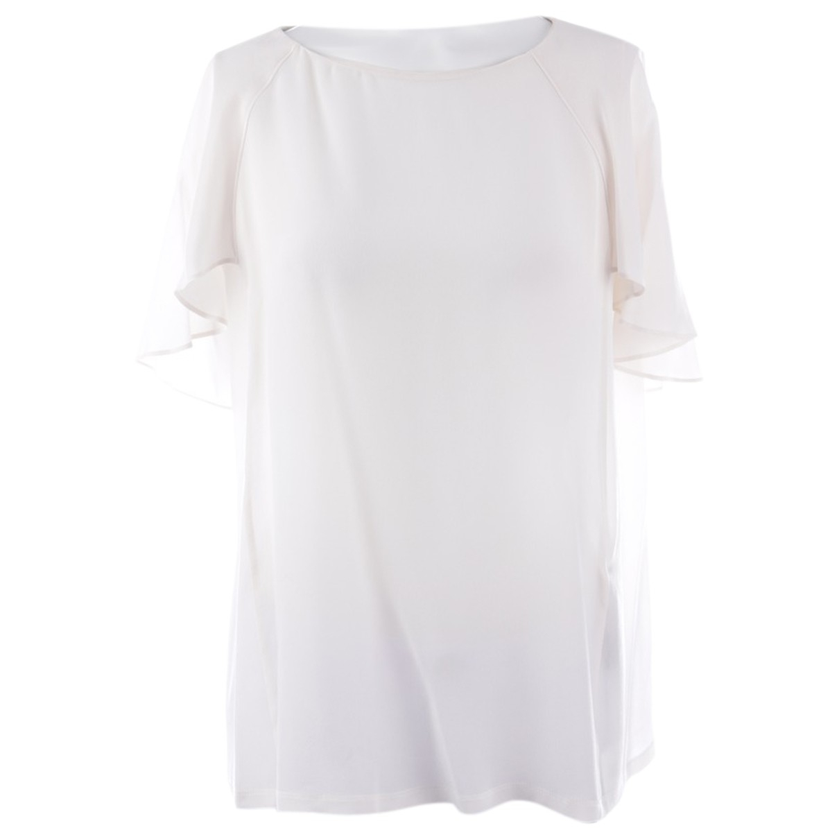 Marc Cain N White Silk  top for Women 36 IT