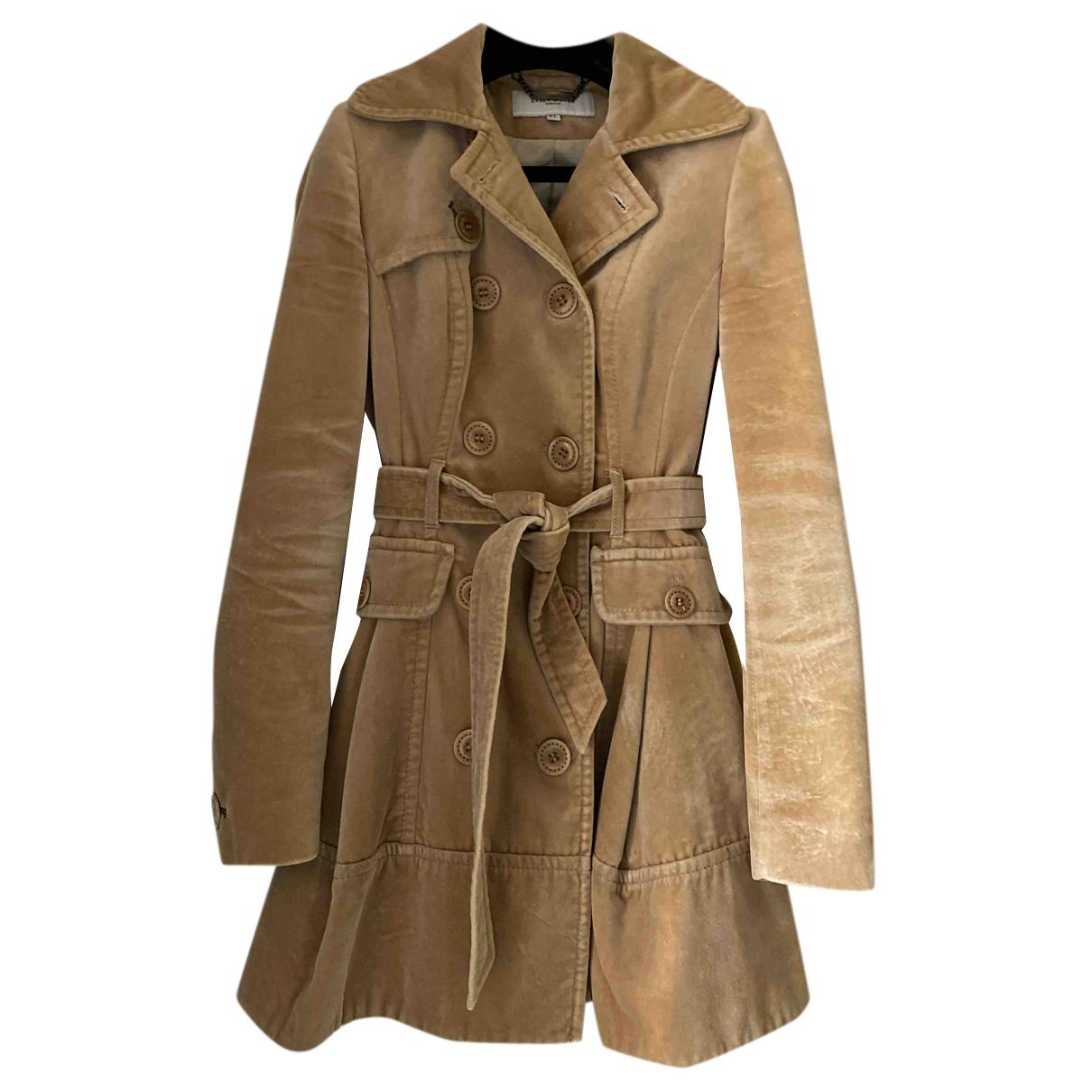 Karen Millen N Brown Cotton Trench coat for Women 8 UK