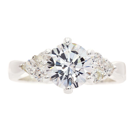 Sparkle Allure 3-Stone Engagement Ring, 9 , No Color Family