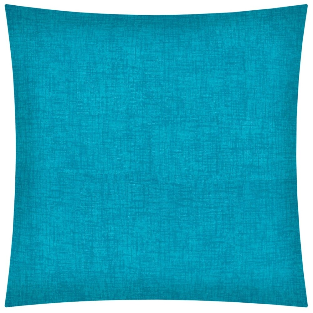 Joita WEAVE aqua Indoor/Outdoor - Zippered Pillow Cover (Set of 2 - aqua, blue)
