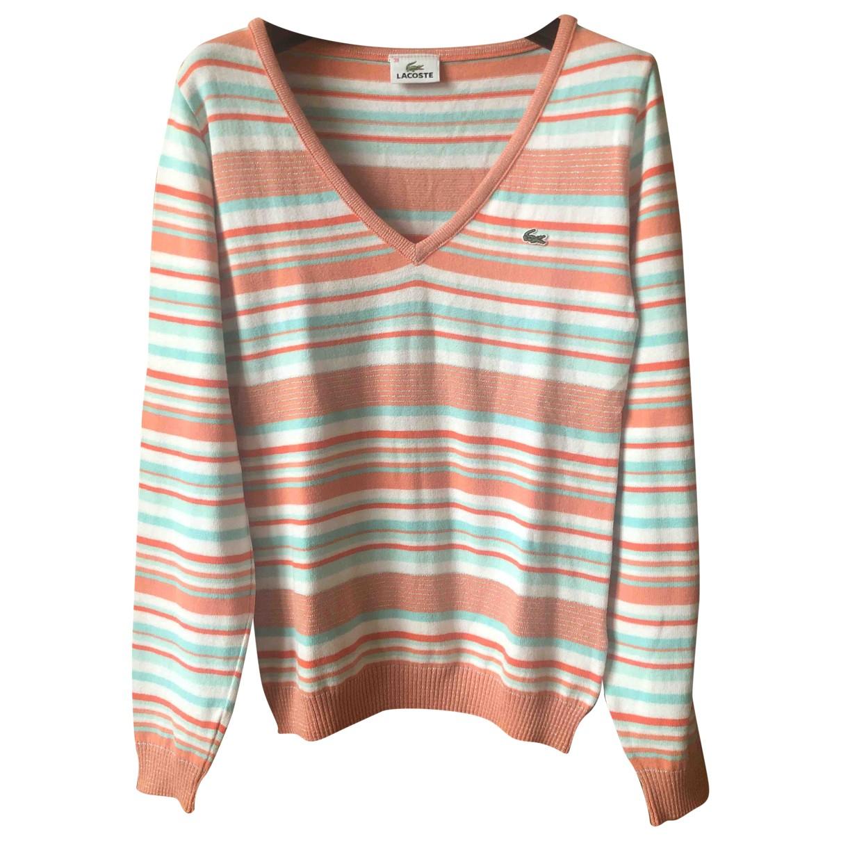 Lacoste - Pull   pour femme en coton - multicolore