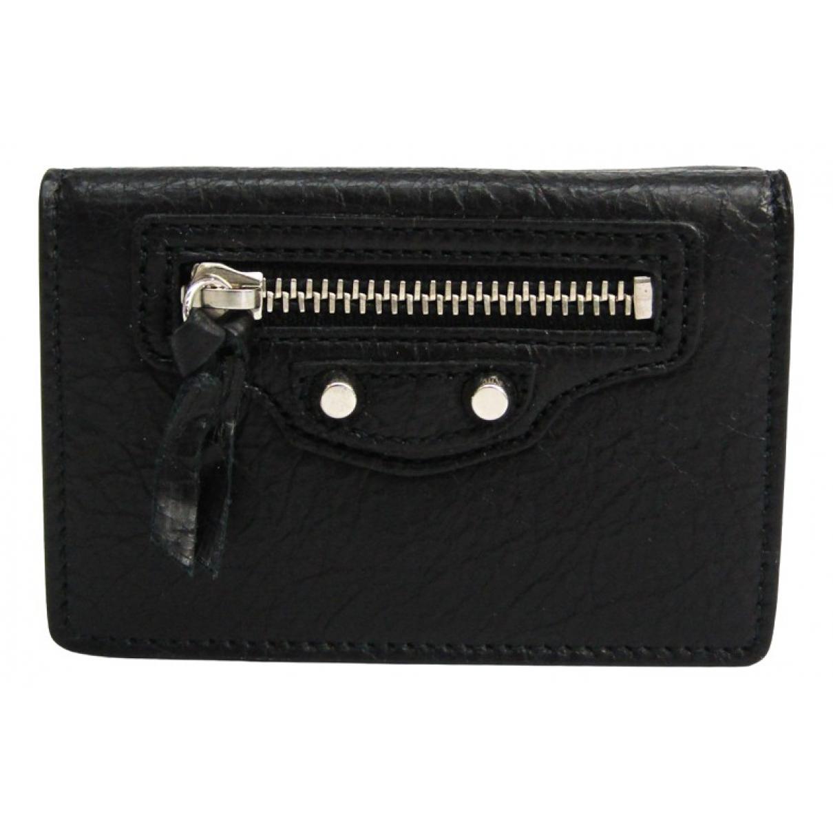 Balenciaga \N Black Leather wallet for Women \N