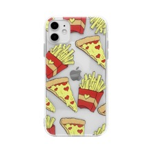 1 Stueck iPhone Etui mit Pommes frittes & Pizza Muster
