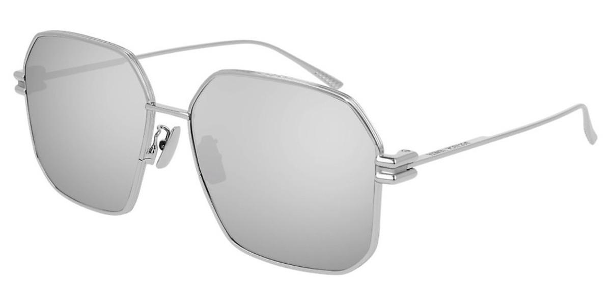 Bottega Veneta BV1047S 004 Women's Sunglasses Silver Size 59