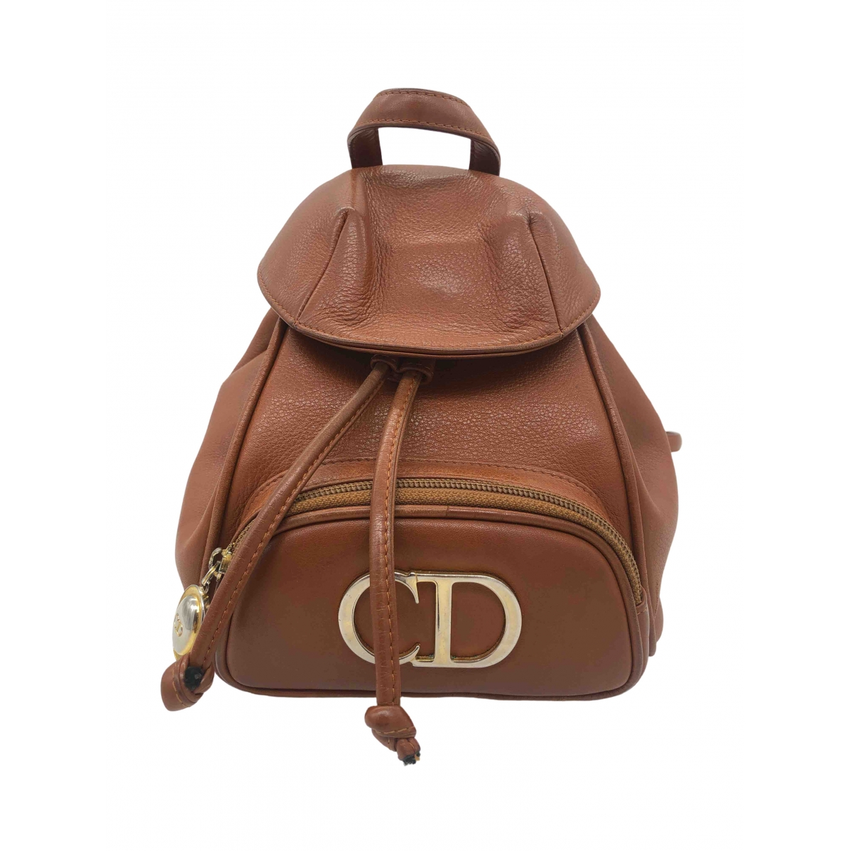 Dior \N Brown Leather backpack for Women \N