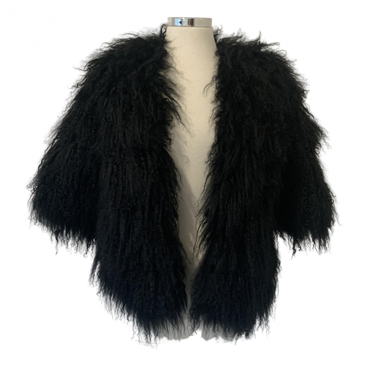 Non Signé / Unsigned \N Black Faux fur jacket for Women S International