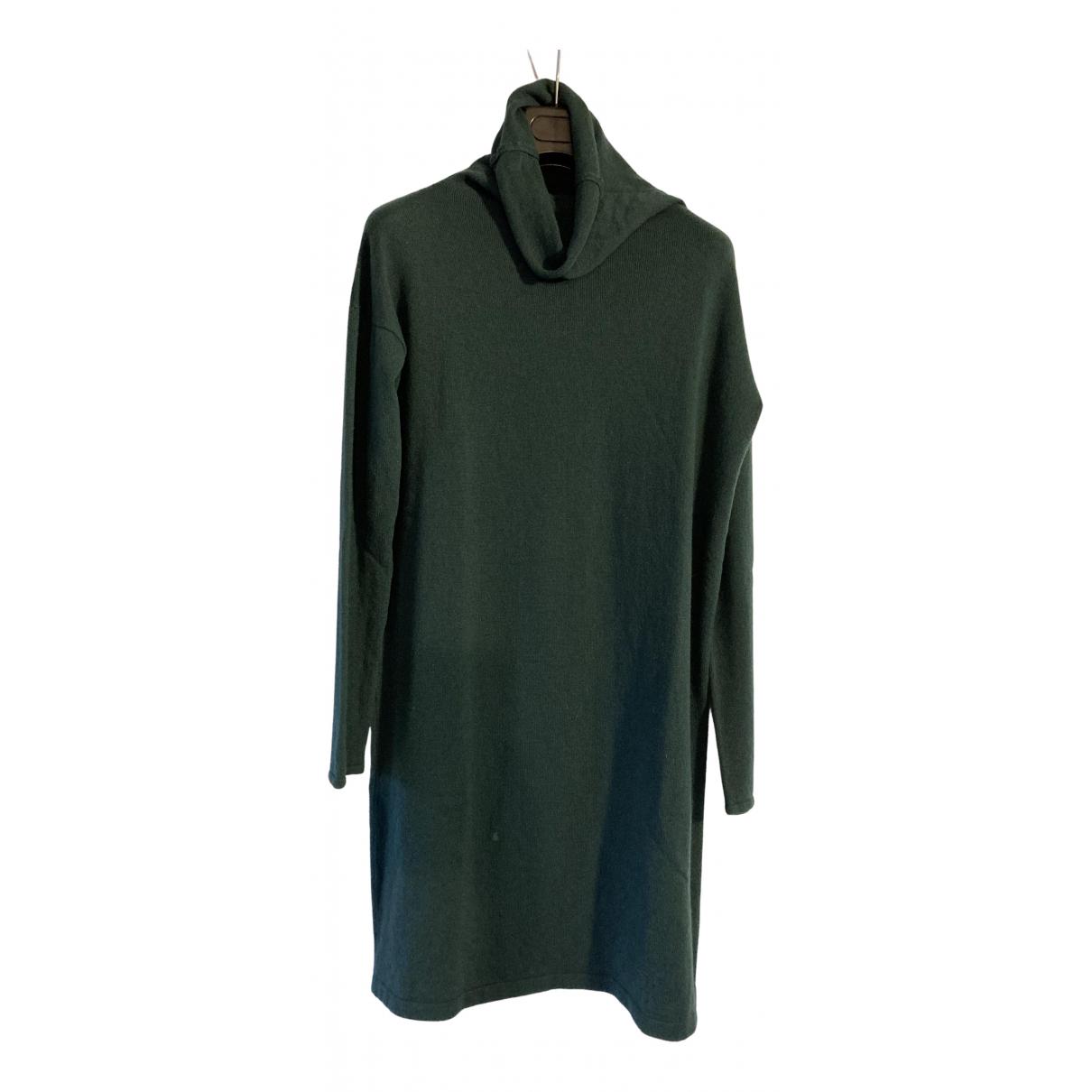 Scaglione \N Kleid in  Gruen Kaschmir