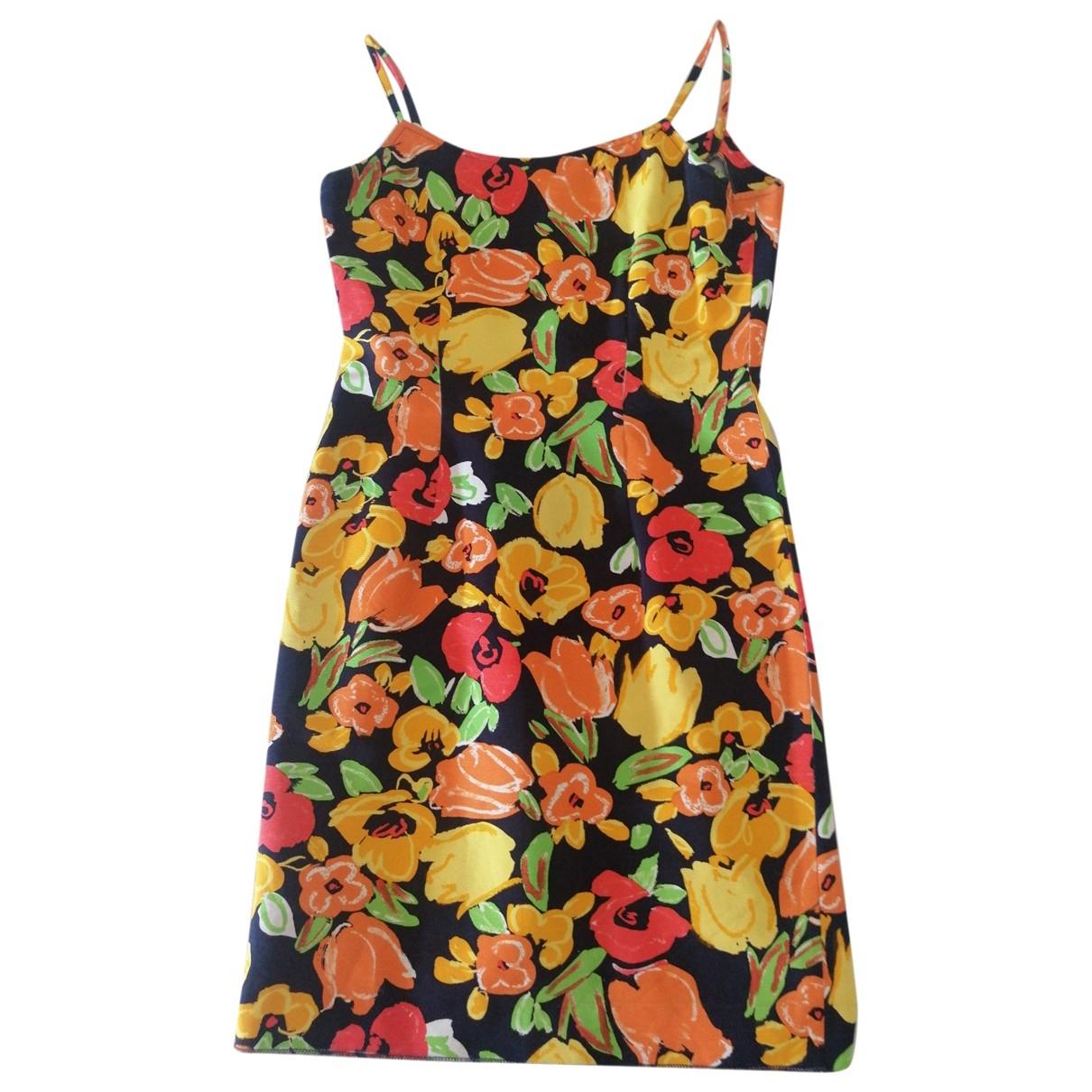 Non Signé / Unsigned \N Multicolour Cotton dress for Women 42 IT