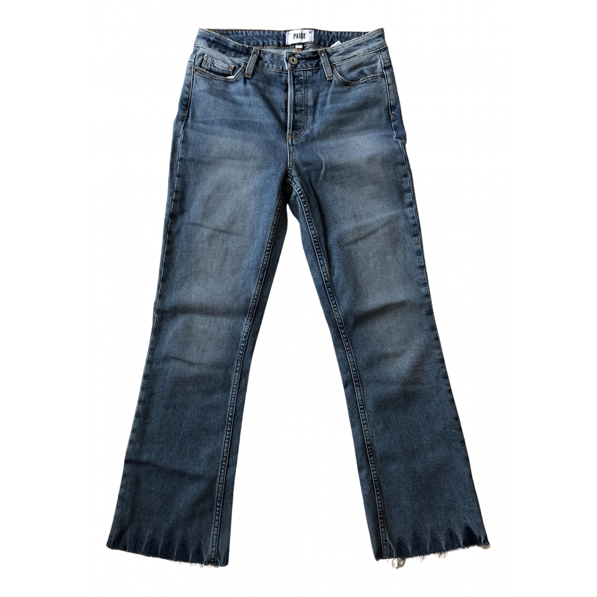 Paige Jeans N Blue Cotton - elasthane Jeans for Women 26 US