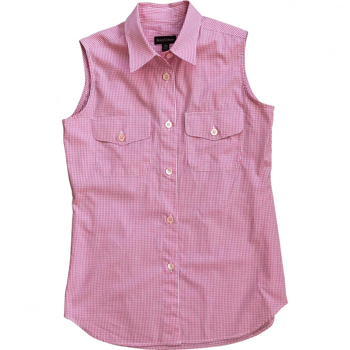 Henry Cotton - Top   pour femme en coton - rose