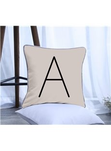 Letter A Pattern Polyester One Piece Decorative Square Throw Pillowcase