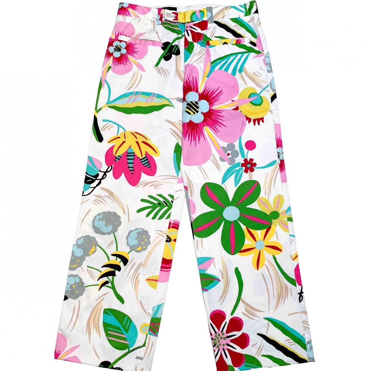 Gucci \N Multicolour Cotton Trousers for Women 40 FR