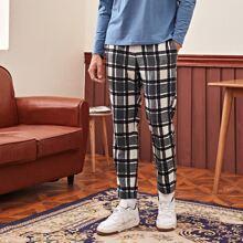 Pantalones para hombre Boton Tartan Preppy