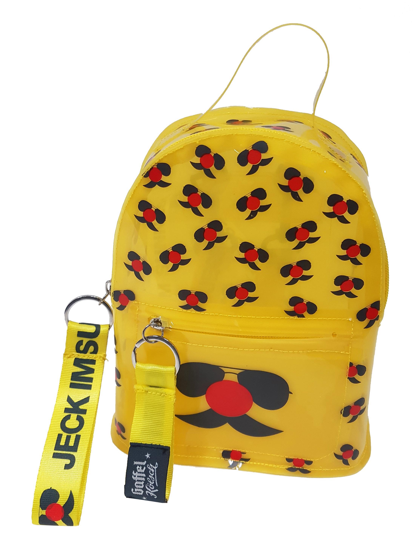 Kostuemzubehor Rucksack Jeck im Sunnesching Farbe: gelb/weiss