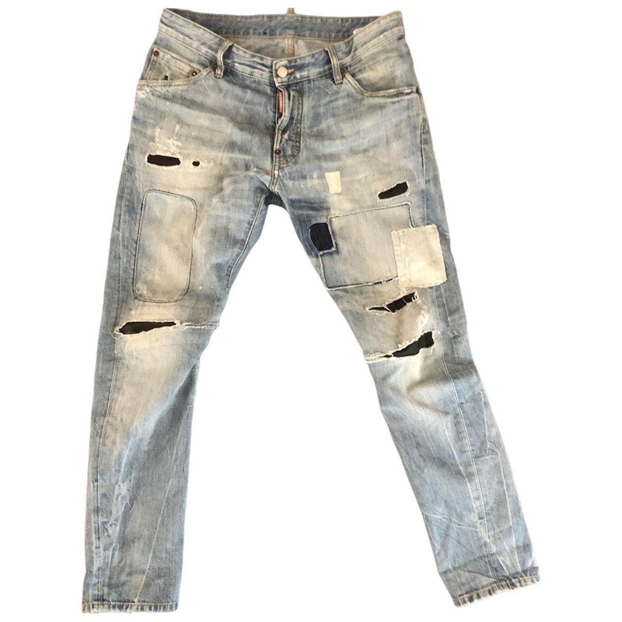Dsquared2 \N Blue Cotton Jeans for Men 32 US