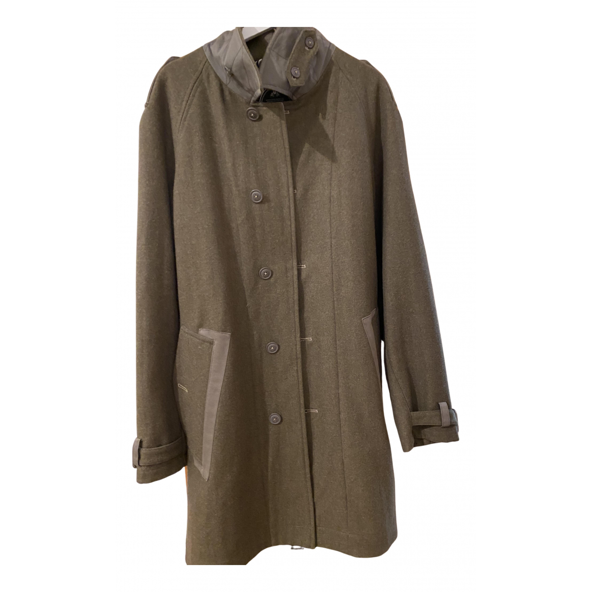 Non Signe / Unsigned \N Jacke in  Khaki Baumwolle
