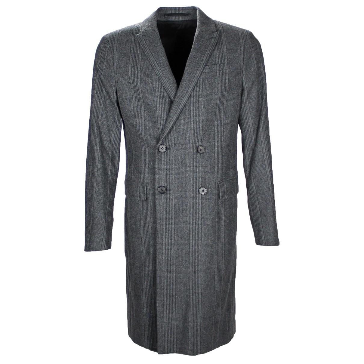 All Saints - Manteau   pour homme en laine - gris
