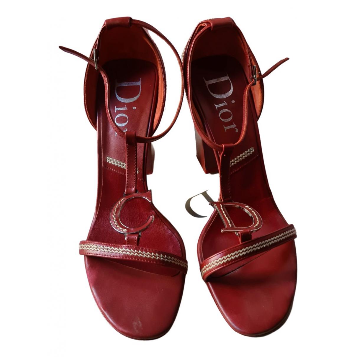 Dior \N Sandalen in  Rot Leder