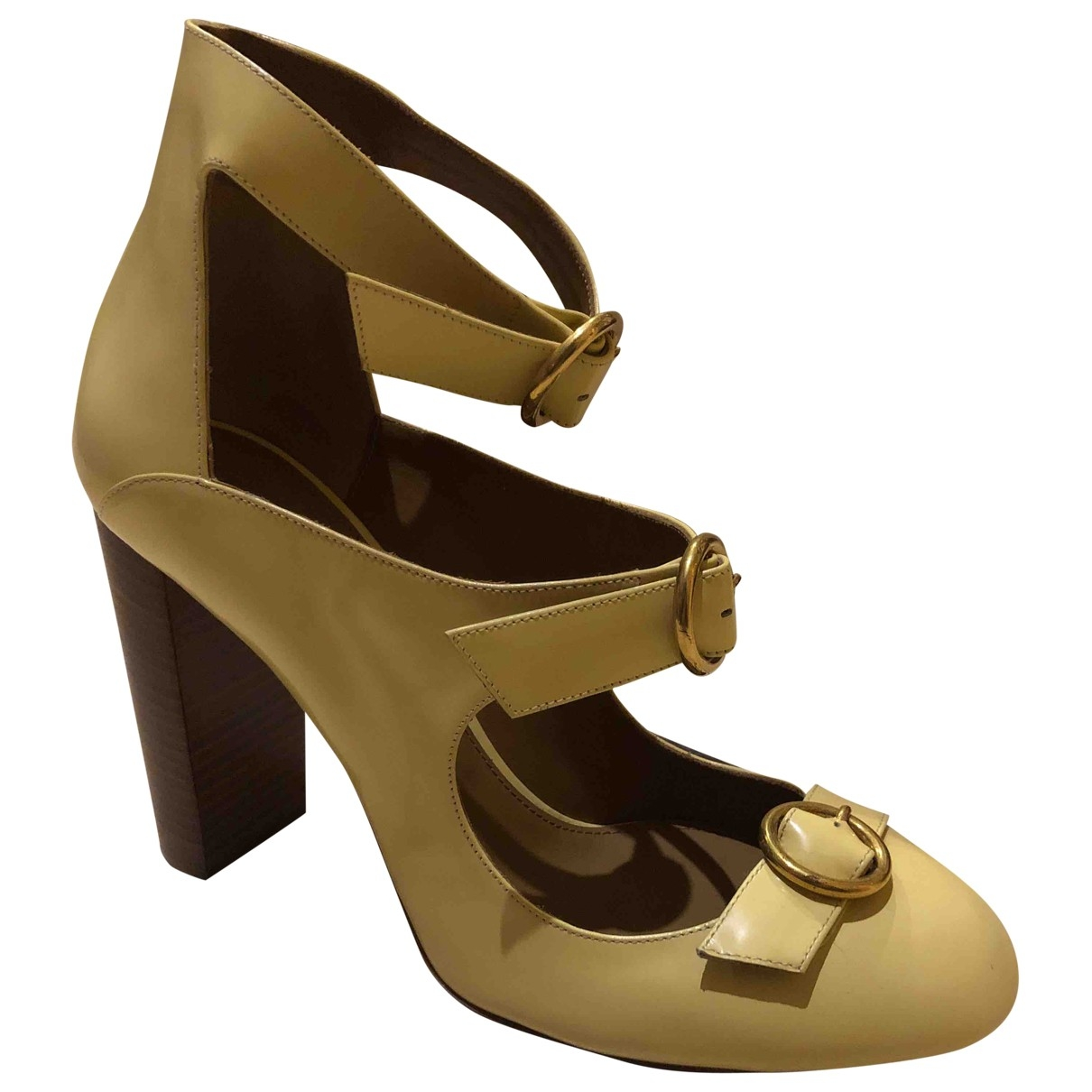 Chloé \N Yellow Patent leather Heels for Women 40 EU