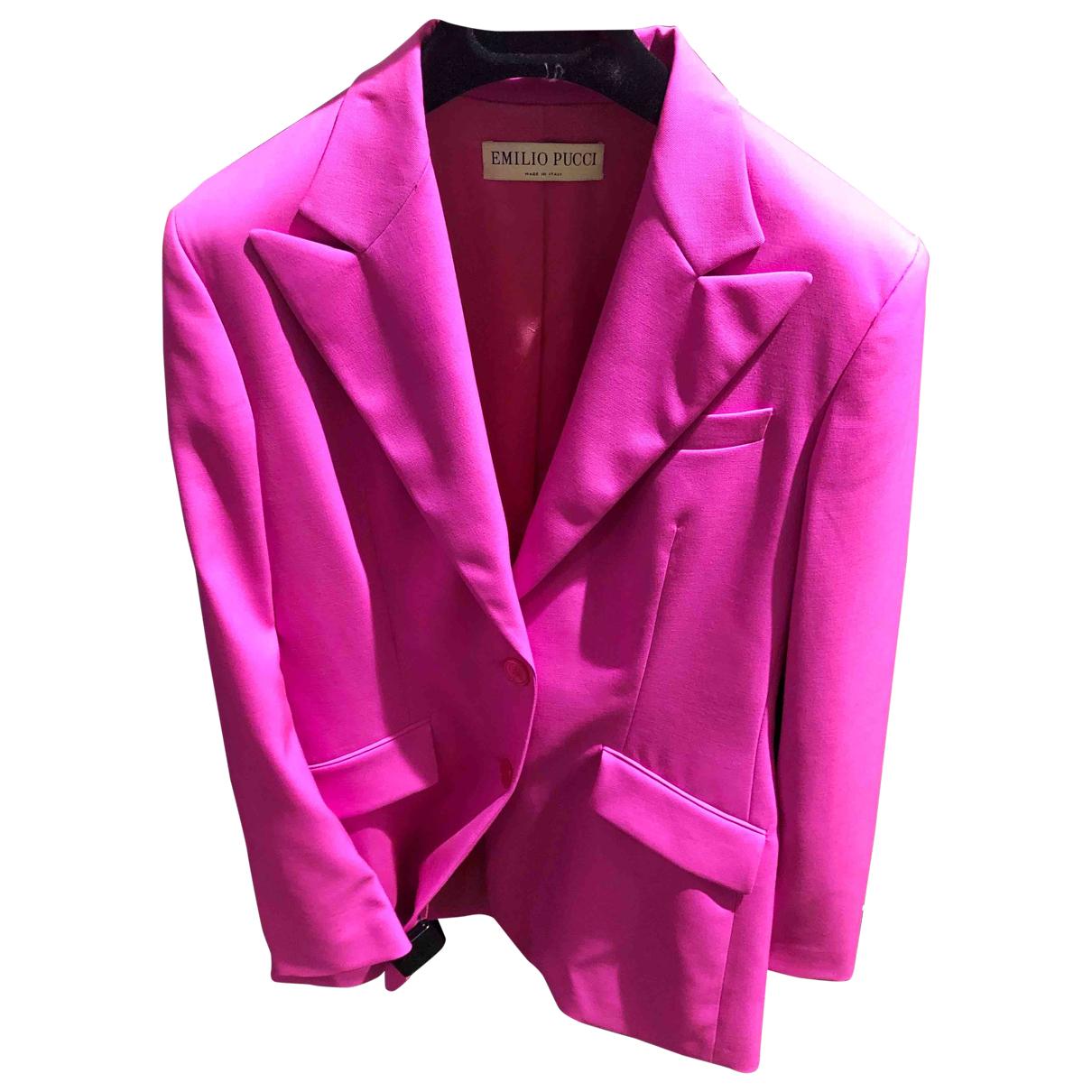 Emilio Pucci - Veste   pour femme en laine - rose