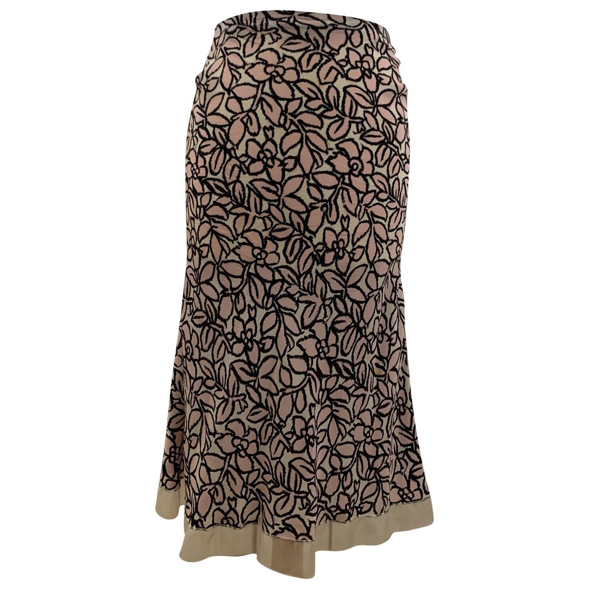 Falda midi de Seda Louis Vuitton