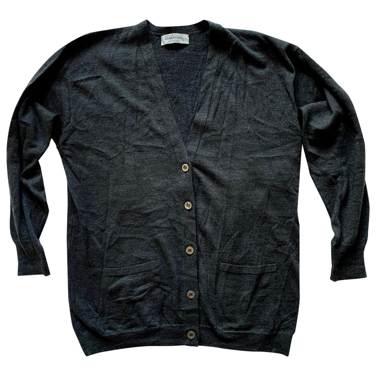 Burberry \N Pullover.Westen.Sweatshirts  in  Anthrazit Wolle