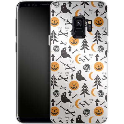 Samsung Galaxy S9 Silikon Handyhuelle - Halloween Mix von caseable Designs