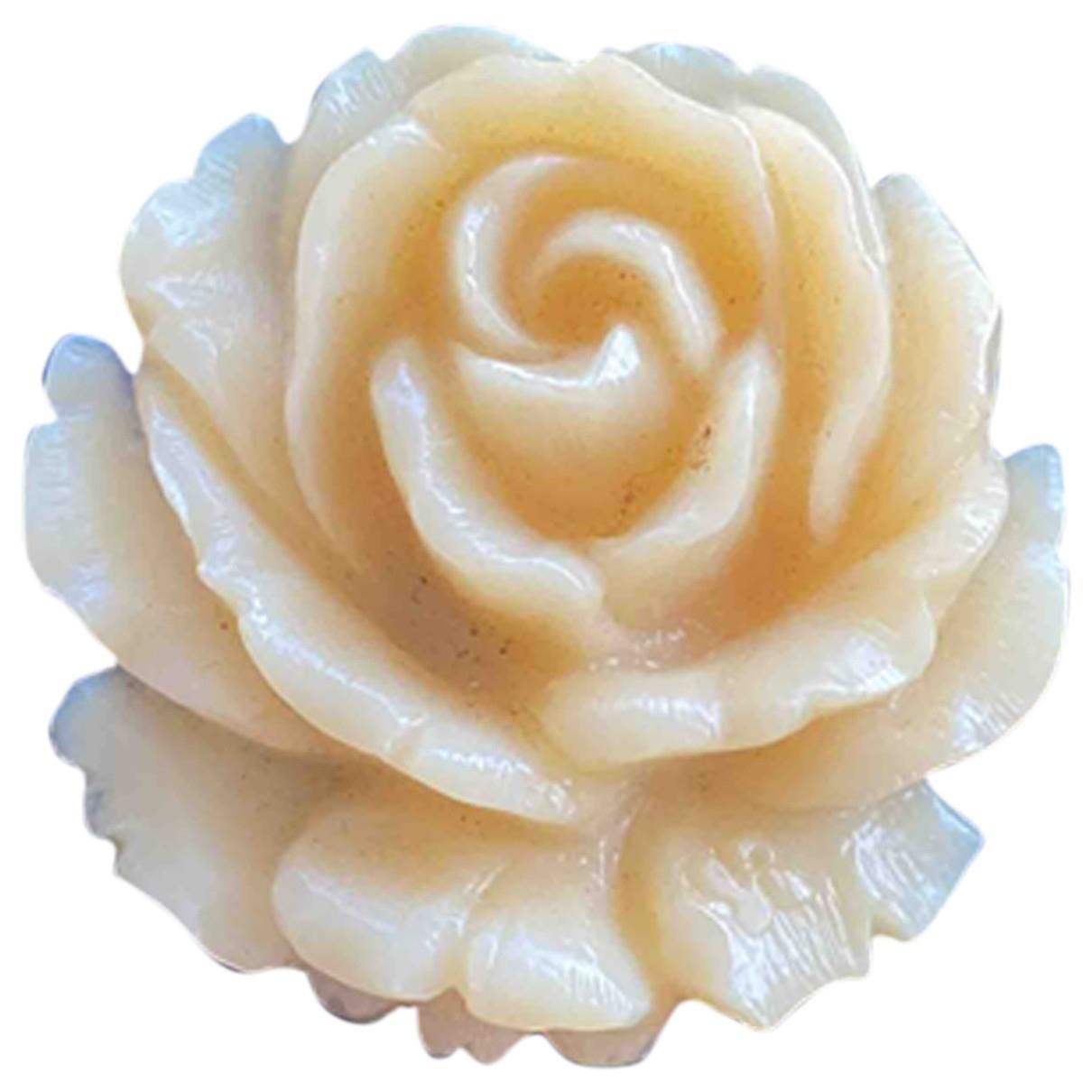 - Broche Motifs Floraux pour femme - beige