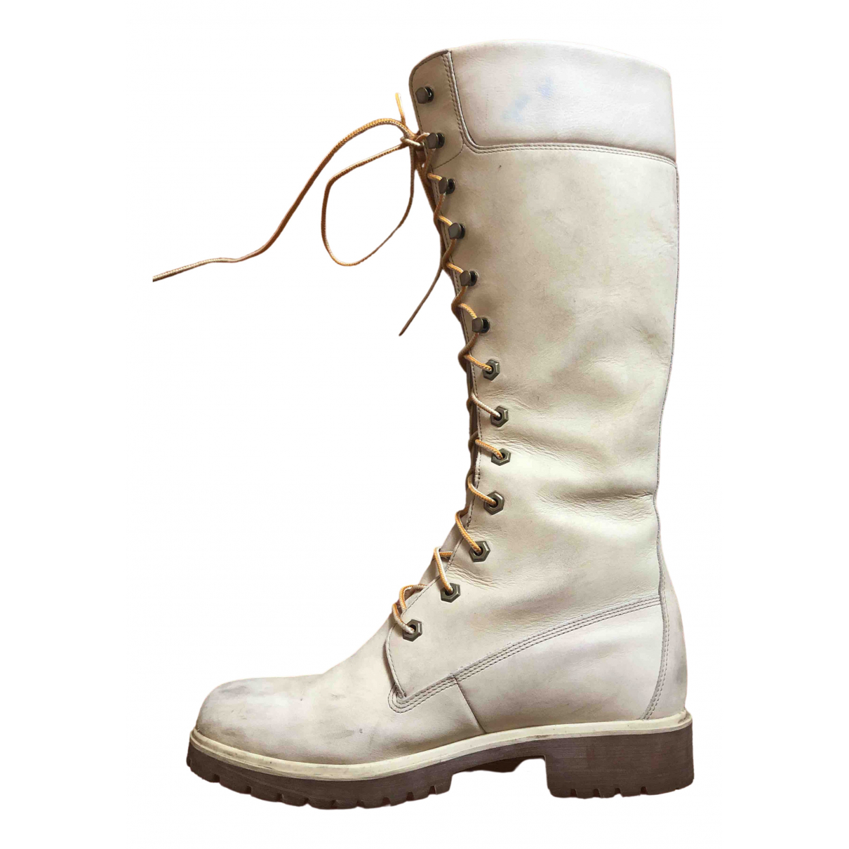 Timberland \N White Suede Boots for Women 39 EU