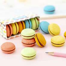 5pcs Cute Macaron Shaped Eraser