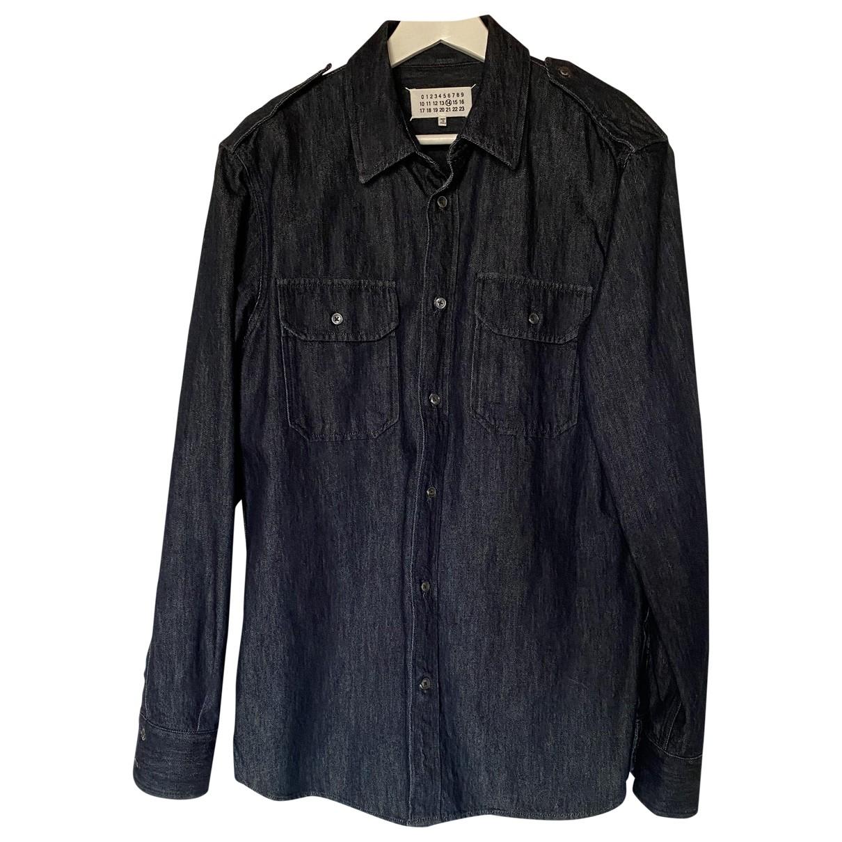 Maison Martin Margiela \N Navy Denim - Jeans Shirts for Men 44 EU (tour de cou / collar)