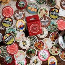 45 Stuecke Aufkleber mit Vintage Muster
